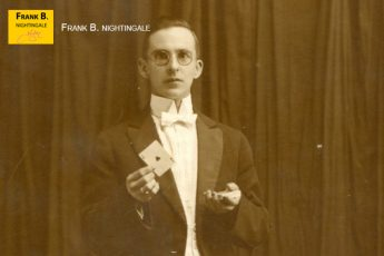 Frank performing magic in Shanghai, China (1921)