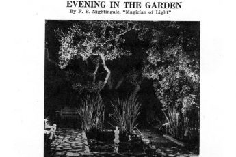 """Evening in the Garden"" (1940) newspaper"
