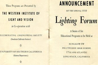 Lighting Forum brochure cover page (1939)
